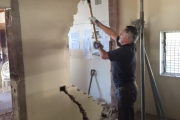 Frank removing kitchen wall